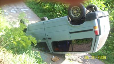 My van flipped over
