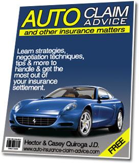 Auto Insurance Claim Advice Free Newsletter